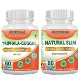 Morpheme Remedies Natural Slim + Triphala Guggul,  120 Capsules