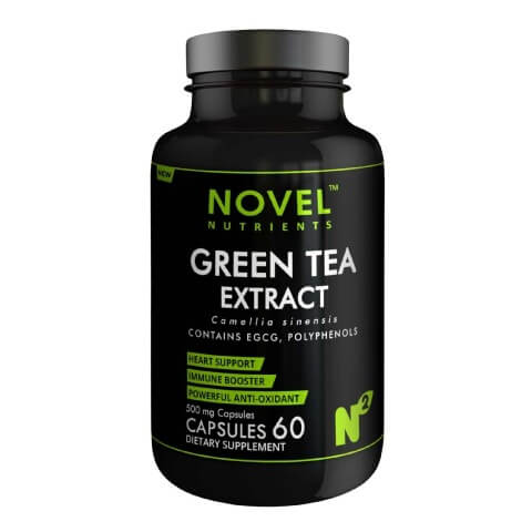Novel Nutrients Green Tea Extract (500mg),  60 capsules  Unflavoured