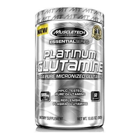 MuscleTech Platinum 100% Glutamine,  0.66 lb  Unflavoured