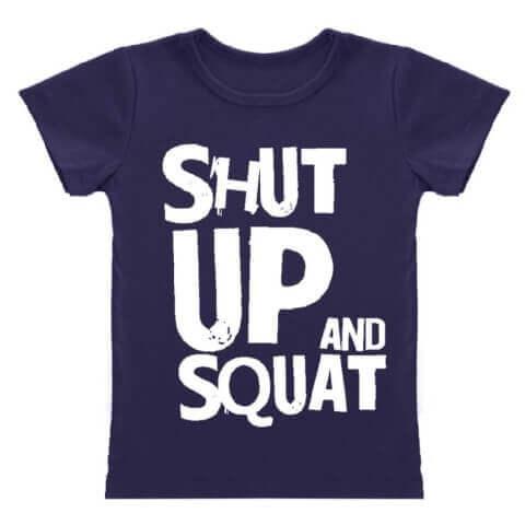 MuscleBlaze Shut  Up & Squat T-Shirt,  Blue  XL