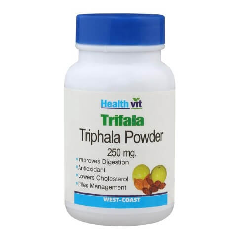 Healthvit Triphala Powder (250 mg),  60 capsules