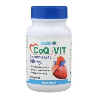 Healthvit CoQ Vit 10 Coenzyme Q10 (100mg),  60 capsules
