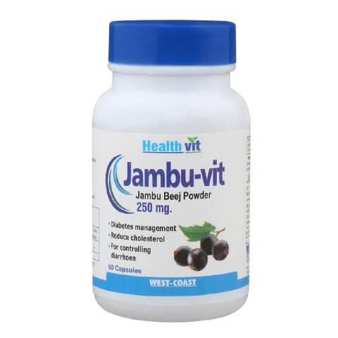 Healthvit Jambo Beej Powder (250 mg),  60 capsules