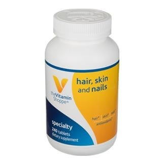 The Vitamin Shoppe Skin-Hair-Nails,  Unflavoured  240 tablet(s)