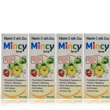 WestCoast Mincy Vitamin C With Zinc Syrup,  Unflavoured (Pack Of 4)  100 Ml