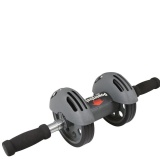 B Fit USA Double Exercise Wheel With Spring (3411),  Black & Silver