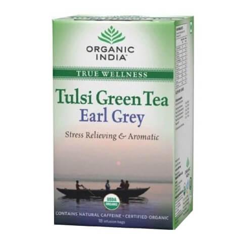 Organic India Tulsi Green Tea Earl Grey,  18 Piece(s)/Pack  Tulsi