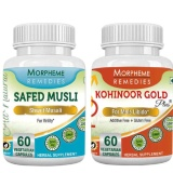 Morpheme Remedies Kohinoor Gold Plus & Safed Musli (Pack Of 2),  60 Capsules