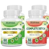 Morpheme Remedies Garcinia-Green Tea + Complete Detox (2+2 Bottles),  120 Veggie Capsule(s)  Unflavoured