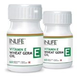 INLIFE Vit.E + Wheat Germ Oil (Pack Of 2),  60 Capsules