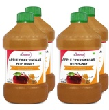 St.Botanica Apple Cider Vinegar With Honey (Pack Of 4),  0.500 L  Unflavoured