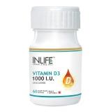 INLIFE Vitamin D3 (1000 IU),  60 capsules