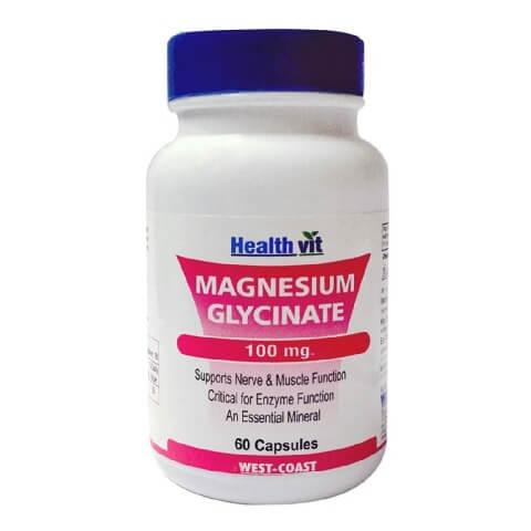 Healthvit Magnesium Glycinate 100mg,  Unflavoured  60 capsules