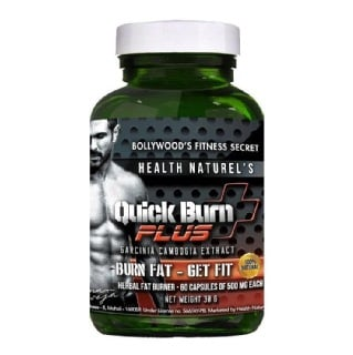 Health Naturel's Quick Burn Plus (500 mg),  60 capsules  Unflavoured