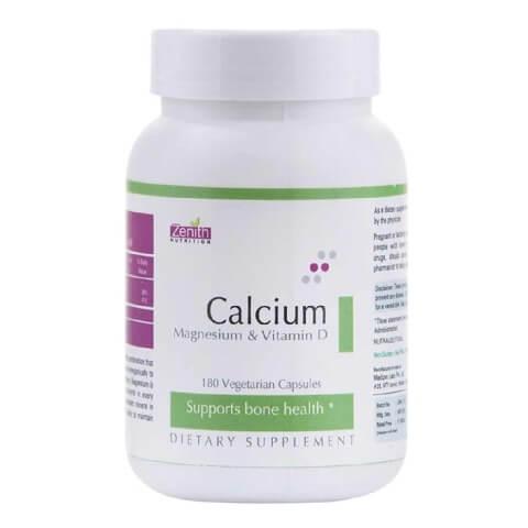 Zenith Nutrition Calcium + Magnesium + Vitamin D,  180 capsules  Unflavoured