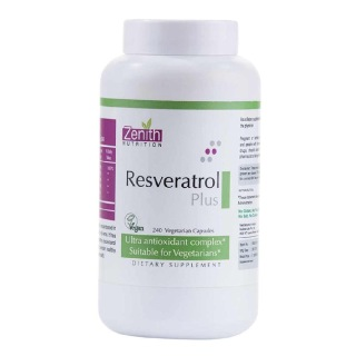 Zenith Nutrition Resveratrol/Green Tea/C/Grapeseed Plus,  240 capsules