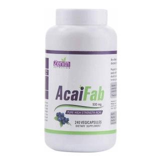 Zenith Nutrition AcaiFab (500mg),  240 veggie capsule(s)  Unflavoured