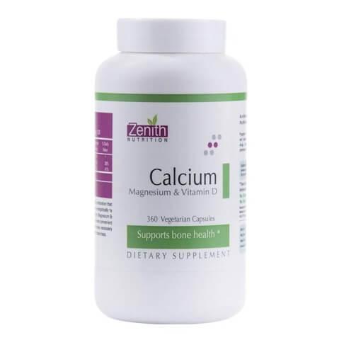 Zenith Nutrition Calcium with Magnesium & Vitamin D,  360 veggie capsule(s)  Unflavoured
