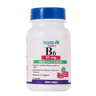 Healthvit Vitamin B6 (50 mg),  Unflavoured  60 capsules