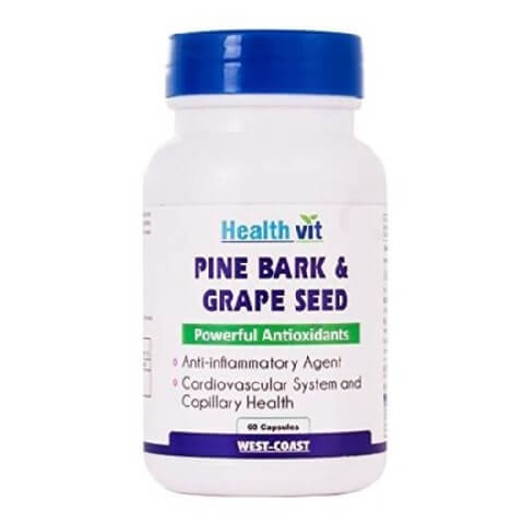 Healthvit Pine Bark & Grape Seed,  60 capsules