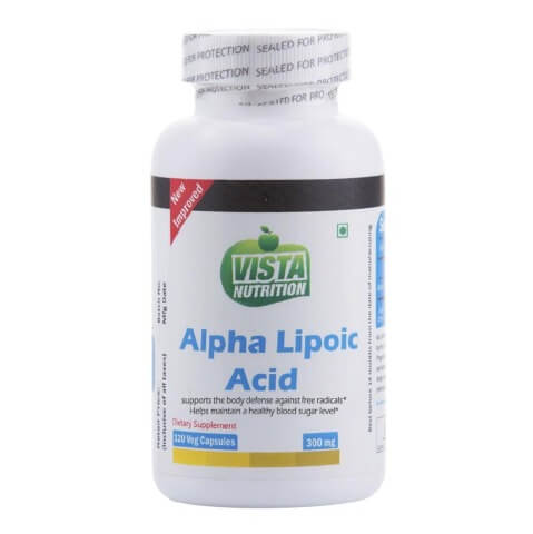 Vista Nutrition Alpha Lipoic Acid,  120 capsules