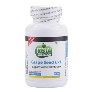 Vista Nutrition Grape Seed Extract (50mg),  60 capsules