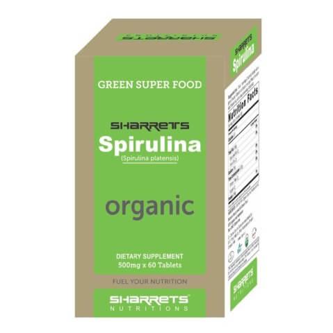 Sharrets Spirulina Organic,  60 tablet(s)