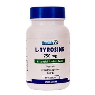 Healthvit L-Tyrosine (750 mg),  60 capsules