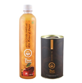 True Elements Weight Loss Kit (Apple Cider Vinegar With Mother & Oolong Tea),  2 Piece(s)/Pack  Unflavoured