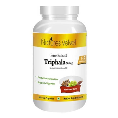 Natures Velvet Triphala Pure Extract (500 mg),  60 capsules