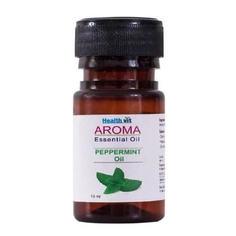 Healthvit Aroma Peppermint Oil,  15 ml  for All Skin Types