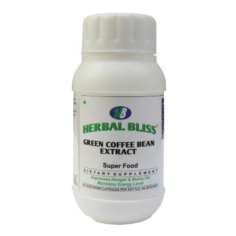 Herbal Bliss Green Coffee Bean Extract,  60 capsules