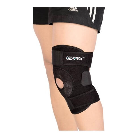 Orthotech Open Patella Knee Support (OR2122),  Black  Medium