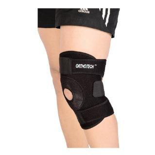 Orthotech Open Patella Knee Support (OR2122),  Black  Medium