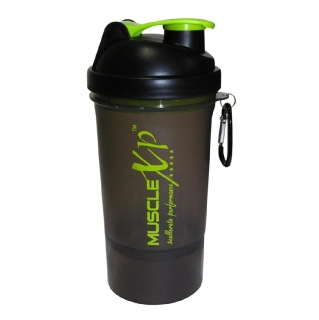 MuscleXP Smart PRO Gym Shaker,  Transparent Black  500 Ml