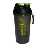 MuscleXP Smart PRO Gym Shaker,  Transparent Black  500 Ml