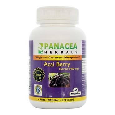 Panacea Herbals Acai Berry Extract (400 mg),  60 capsules  Unflavoured