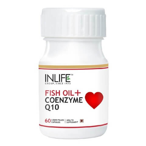 INLIFE Fish Oil + CoQ10,  60 capsules
