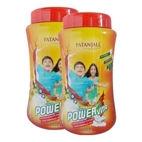 Patanjali Powervita - Pack of 2 Unflavoured 0.5 kg