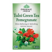 Organic India Green Tea with Pomegranate,  18 Piece(s)/Pack  Tulsi