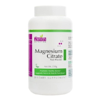 Zenith Nutrition Magnesium Citrate,  Unflavoured  0.250 kg