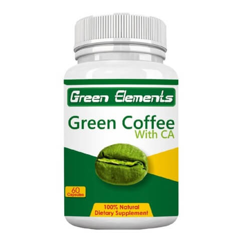 Green Elements Green Coffee with CA,  60 capsules