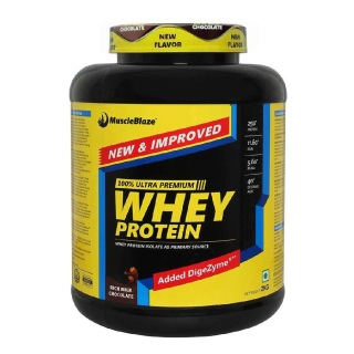 MuscleBlaze 100% Whey Protein Supplement Powder with Digestive Enzyme,  4.4 lb  60 Servings (Rich Milk Chocolate)