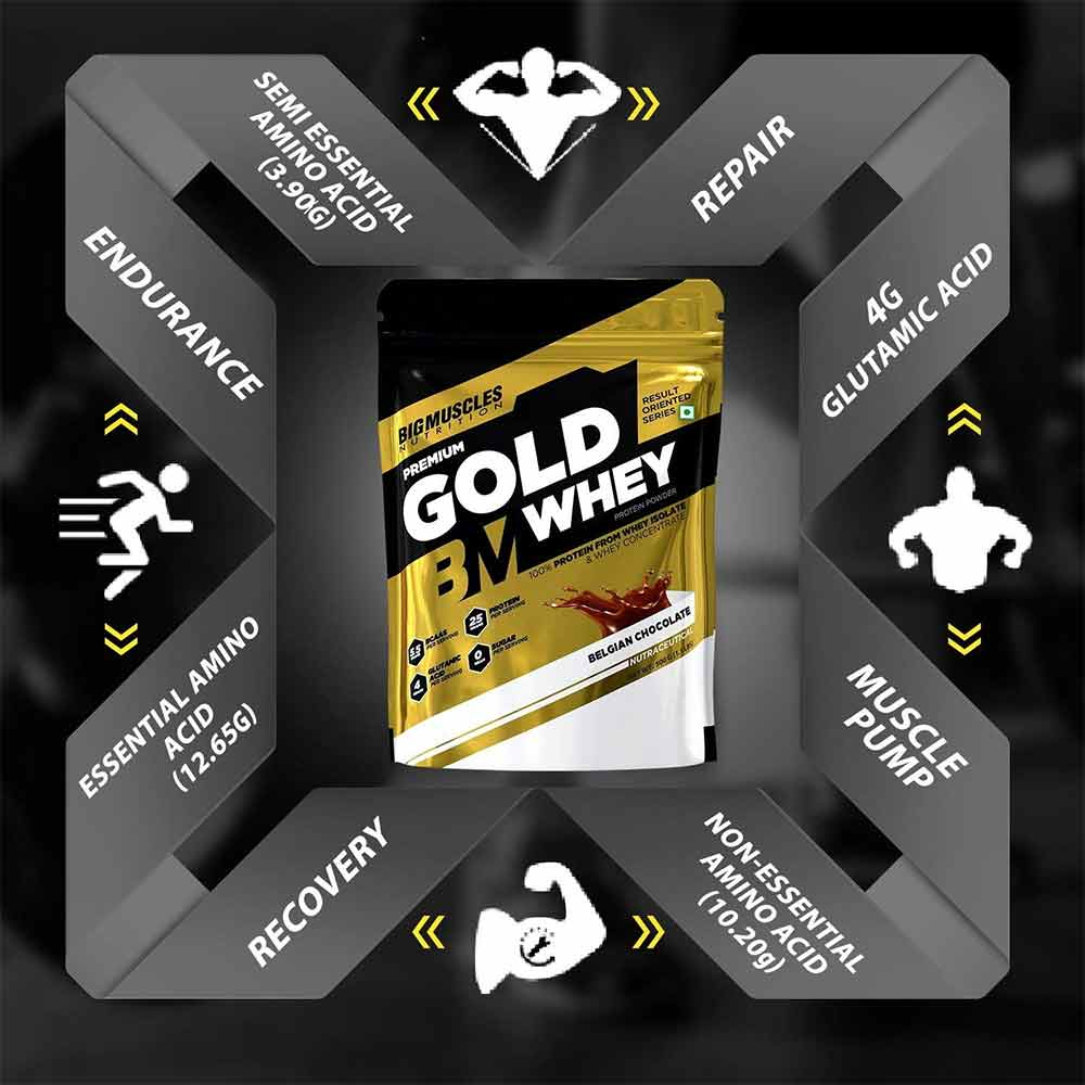 4 - Big Muscles Premium Gold Whey,  1.1 lb  Salted Caramel