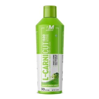 1 - Big Muscles L-Carnicut Liquid 1500,  450 ml  Smash Green Apple