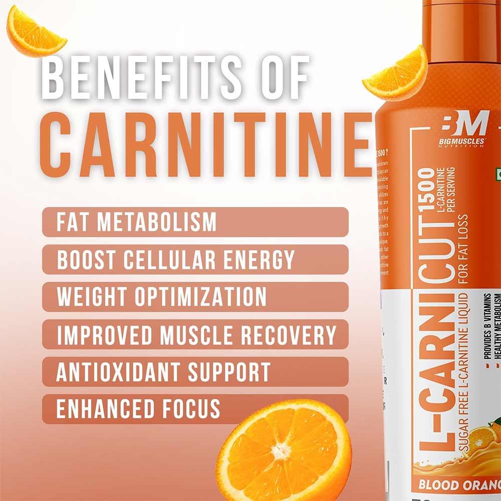 5 - Big Muscles L-Carnicut Liquid 1500,  450 ml  Blood Orange