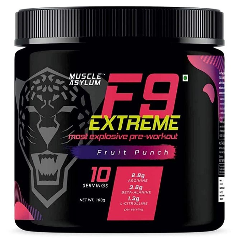 1 - Muscle Asylum F9 Extreme Pre-Workout,  0.22 lb  Fruit Punch