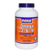 Now Omega 3-6-9 (1000 mg),  250 softgels