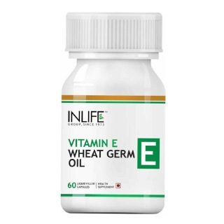 INLIFE Vitamin E Wheat Germ Oil,  60 capsules