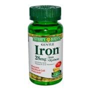 Nature's Bounty Gentle Iron (28 mg),  90 capsules